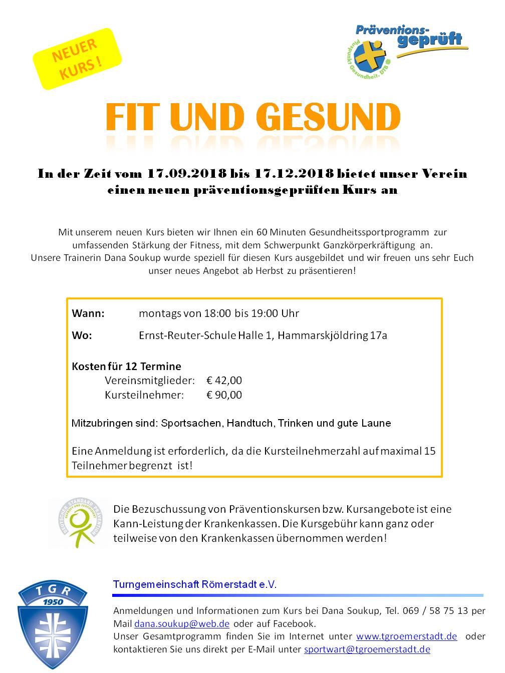 Tg Romerstadt Sportangebote Steckbrief